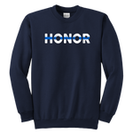 """Honor"" - Thin Blue Line Kids Sweatshirt"