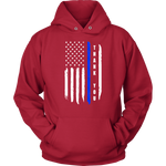 """Thank you"" - Thin Blue Line Flag Hoodie"