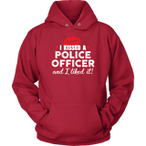 """I Kissed A Police Officer"" - Red lips - Hoodie"