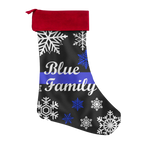 Blue Family - Thin Blue Line - Christmas Stocking