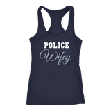 Women's Police Wife - Racerback Tank Top