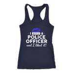 Women's I Kissed A Police Officer - Racerback Tank Top - Blue lips