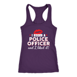Women's I Kissed A Police Officer - Racerback Tank Top - Red lips