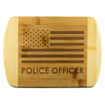 Police Officer - Wood Cutting Board