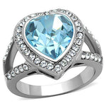 Thin Blue Line Heart Ring