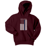 Youth Thin Blue Line Flag Honor Respect Hoodie - Kids