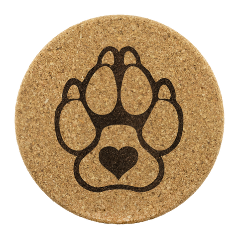 K9 with Heart - Round Coasters