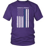 Thin Blue Line Flag Honor Respect Shirt + Hoodies