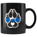 K9 Heart - Thin Blue Line Mug
