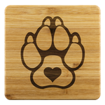 K9 Heart Coasters - Set of 4