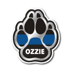 Personalized Sticker - K9 Paw - MM1