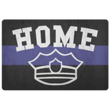 "Thin Blue Line ""HOME"" Doormat"