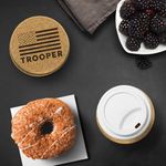 Trooper - Round Coasters - Set of 4