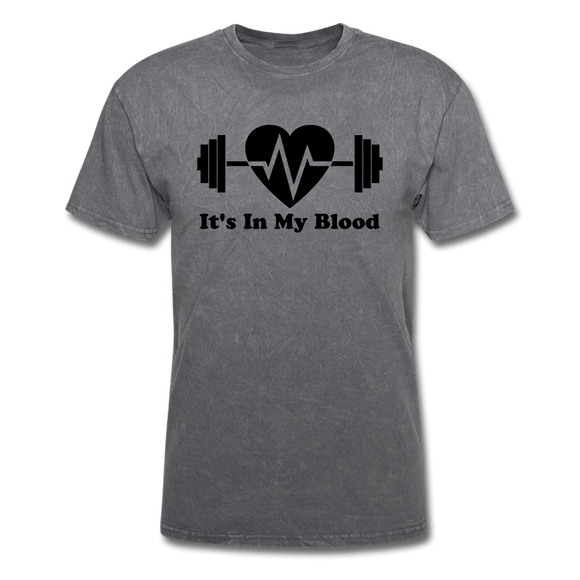It's In My Blood T-Shirt - mineral charcoal gray