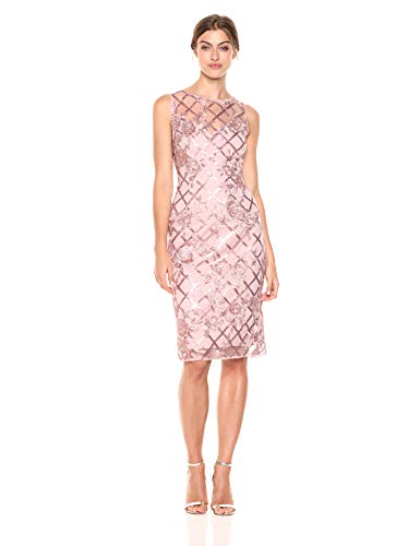 Adrianna Papell Women's Sequin Short Dress, Quartz 4 - NLBoutique