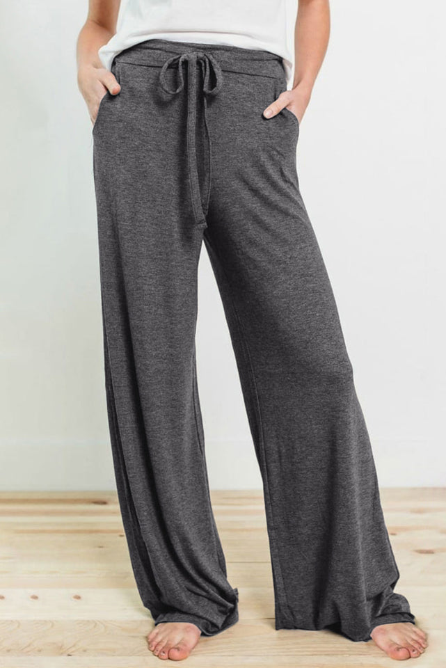 Gray Drawstring Lounge Pants