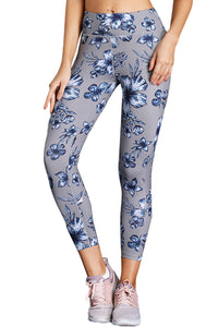 High Waist Yoga Sport Leggings with Floral Print