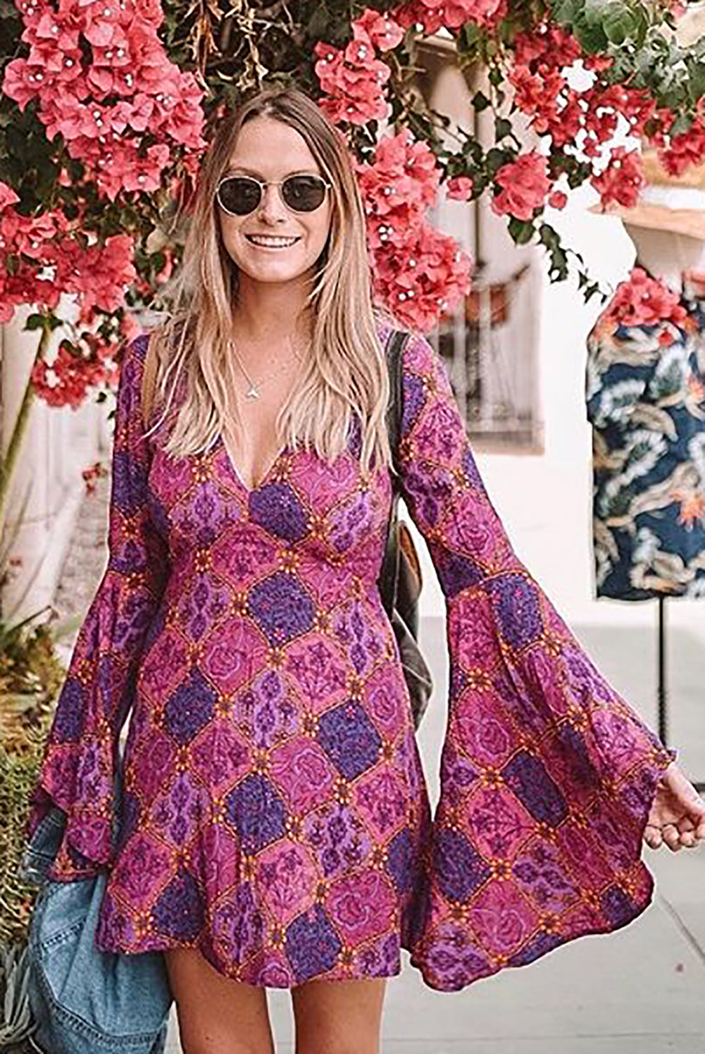 Purple Venus Dress in Sun