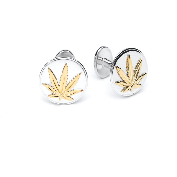 Gold and Sterling Silver Cufflinks - Round
