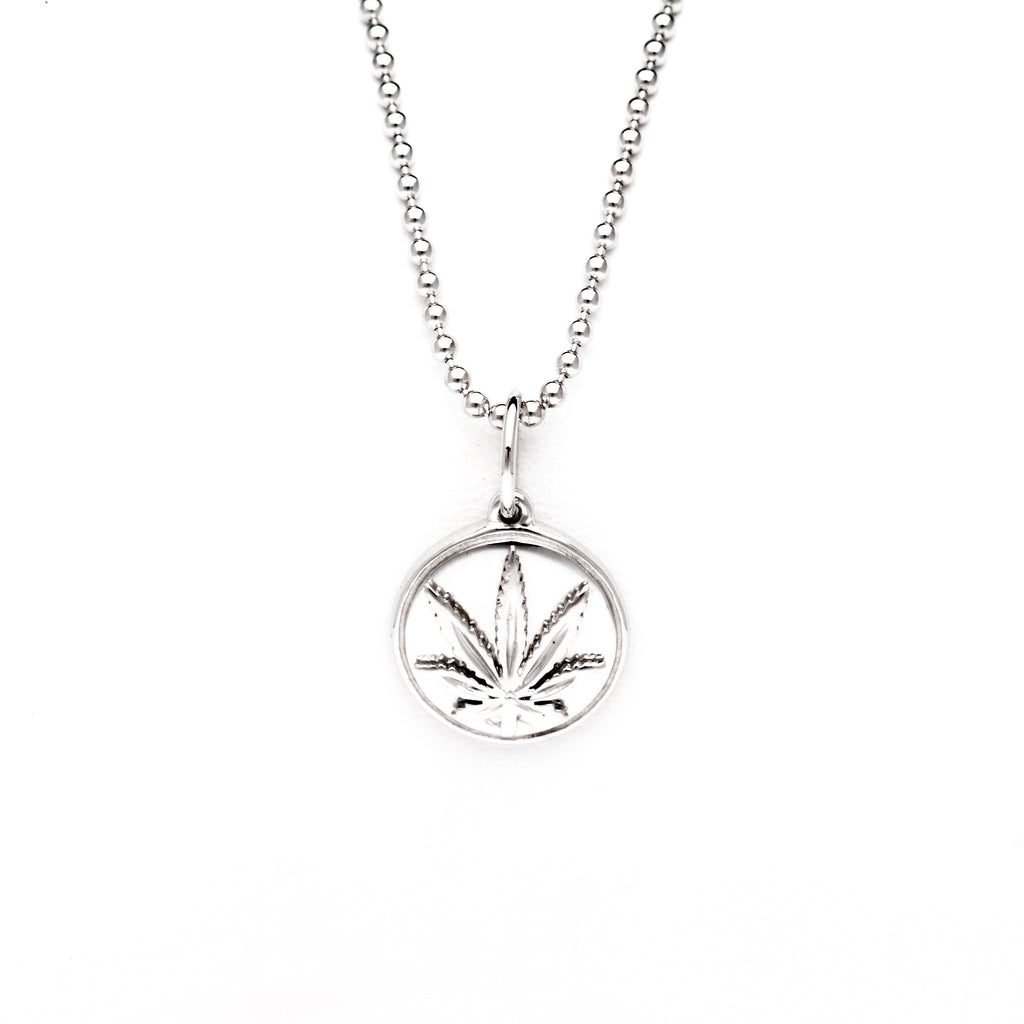 """Puff Sativa"" Sterling Silver 10 mm Pendant"