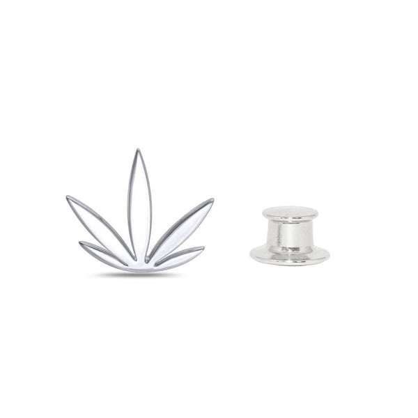 Sterling Silver Modern Leaf Fashion/Lapel Pin