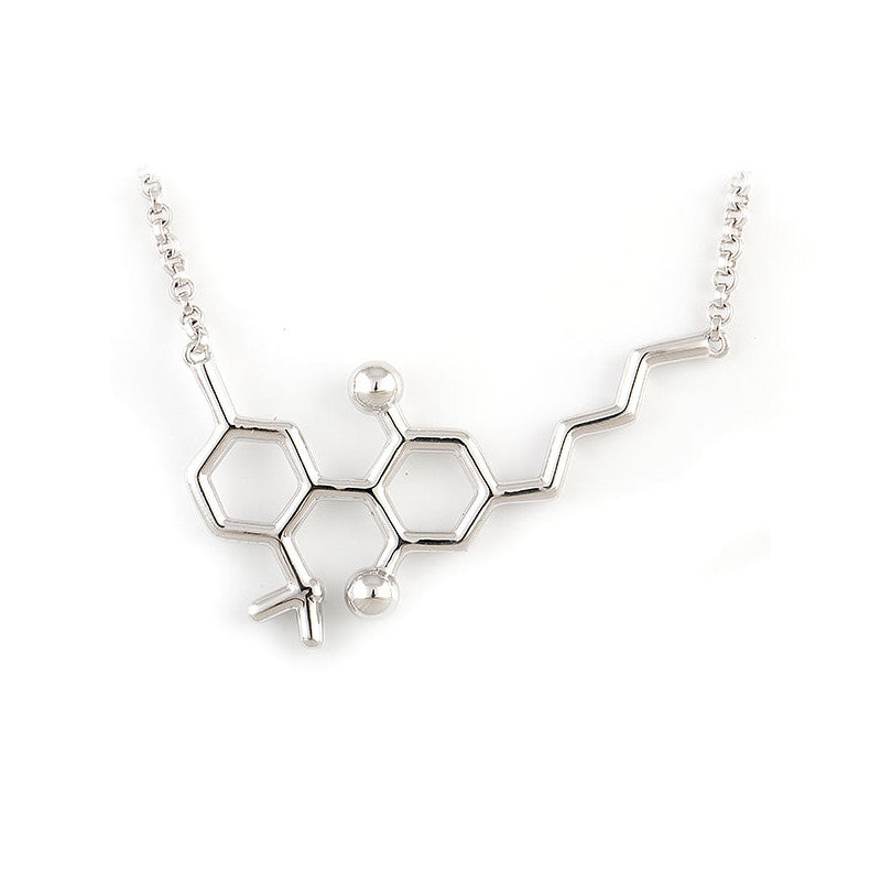 Sterling Silver Premium CBD Molecule Necklace