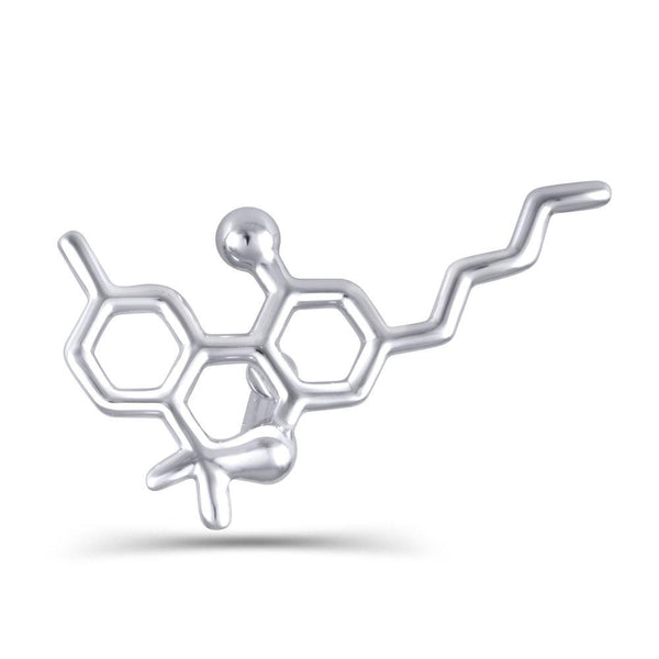 Sterling Silver Molecule Fashion/Lapel Pin