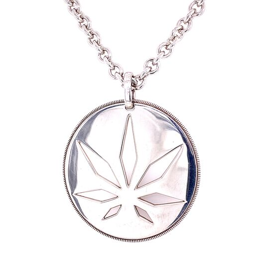 Sterling Silver HIGH POINT Pendant - Cutout Disc