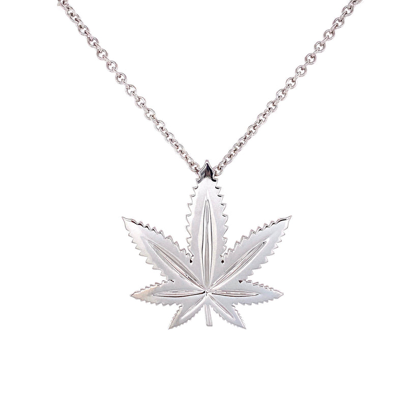 Sterling Silver Indica Leaf Classic Pendant