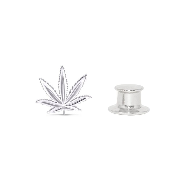 Sterling Silver Sativa Leaf Classic Fashion/Lapel Pin
