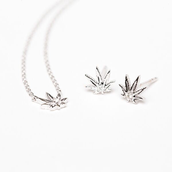 "Gold Sativa Leaf Necklace - Our ""Sweet Sativa"""