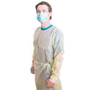 Isolation Gowns AAMI Level 2 • Case of 100 Gowns