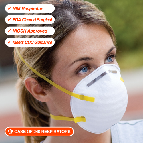 240 N95 Respirators • NIOSH Approved • FDA Cleared