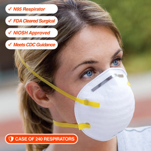N95 Respirator - Case of 240ea *For Healthcare Providers*