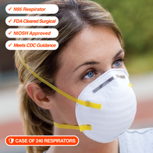 240 N95 Respirators | NIOSH Approved | FDA Cleared | Made in USA