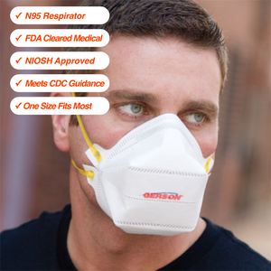 100 N95 Respirators • NIOSH Approved • FDA Cleared