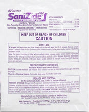 Sanizide Pro 1 Individually Wrapped Surface Wipes (Case of 6 - 50ct. Boxes)