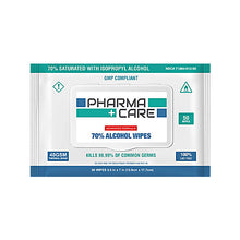 70% Isopropyl Alcohol Wipes, 50 Per Pack, 40 Packs Per Case