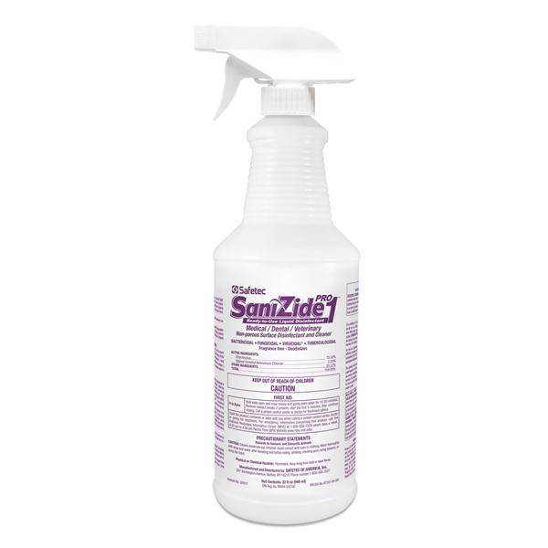 Sanizide Pro 1 Disinfectant Spray (Case of 6 - 32 fl. oz. bottles)