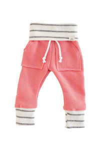 Coral Reef and Coastal Stripe Sweat Pants
