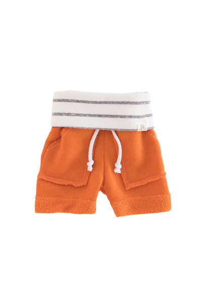 Tangerine and Coastal Stripe Boy Shorts