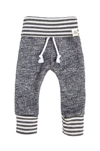 Gray and Gray Stripe Sweat Pants