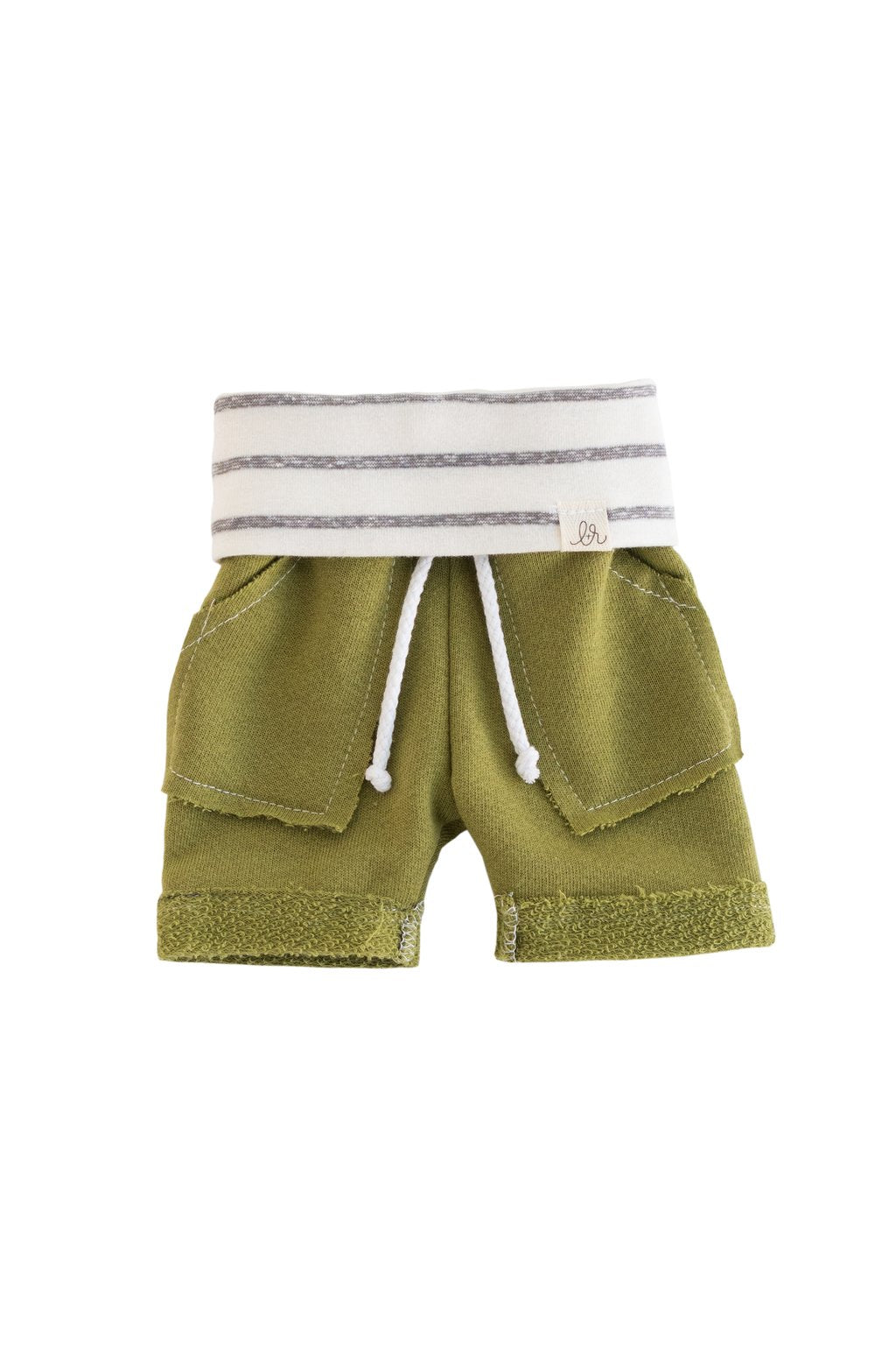 Palm Leaf and Coastal Stripe Boy Shorts