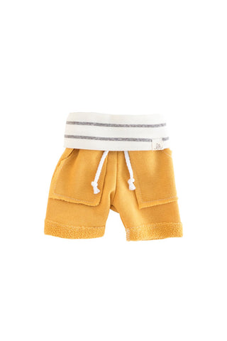 Sunny Yellow and Coastal Stripe Boy Shorts