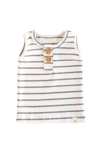 Coastal Stripe Button Tank