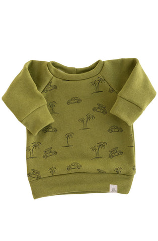 Palm Leaf Beach Bug Sweatshirt