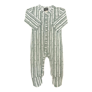 Classic Footie Jumpsuit in Birch