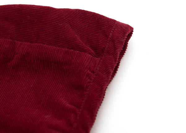Corduroy Bonnet in Crimson