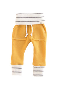 Sunny Yellow and Coastal Stripe Sweat Pants