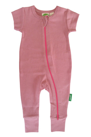 Essential Basic 2-Way Zipper Romper - Dusty Rose